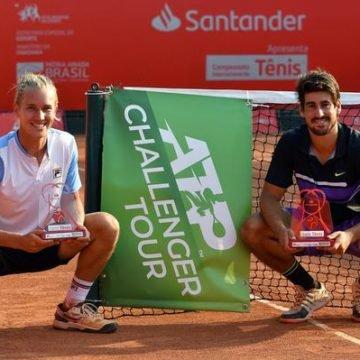 Orlando Luz e Rafael Matos são campeões de duplas no Challenger de Campinas